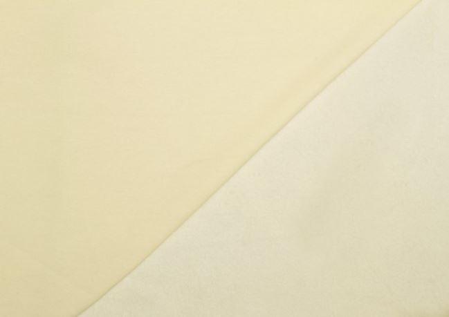 Dzianina dresowa drapana kremowa 05650/051