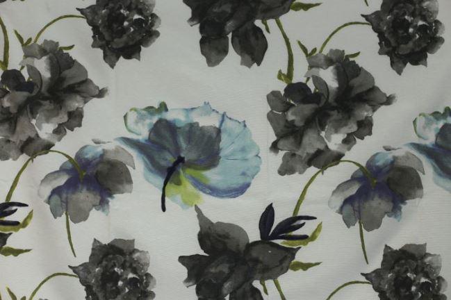 Tkanina dekoracyjna z nadrukiem kwiatów 1116/067