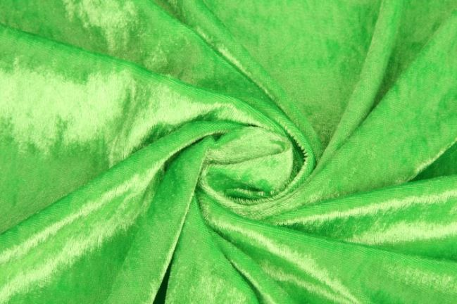 Welur de panne w kolorze zielonym 0140/358
