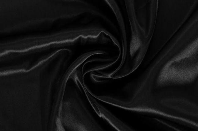 Podszewka satynowa czarna 06854/069
