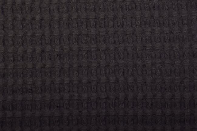 Tkanina waflowa w kolorze czarnym 11705/069