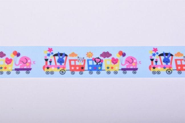 Rypsowa wstążka jasno niebieska w pociągi 30310