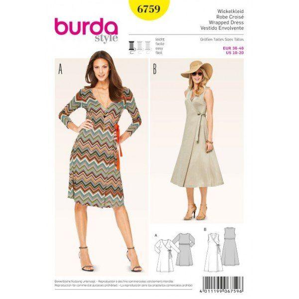 Wykrój na sukienki kopertowe  6759