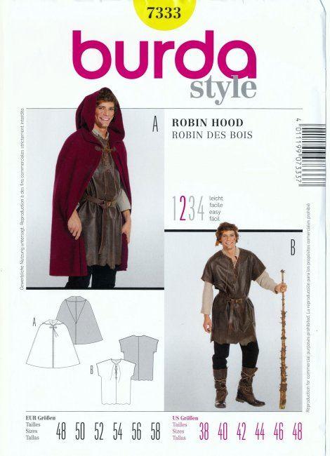 Wykrój na kostium Robin Hooda 7333