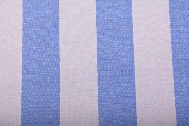 Kanwa w beżowo-niebieskie pasy 04104/003