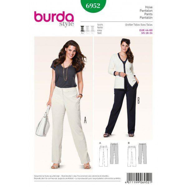 Wykrój na damskie spodnie 6952