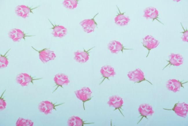 Dzianina bawełniana miętowa z zapachem róż 11702/021