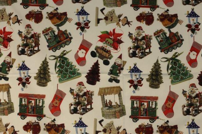 Świąteczna tkanina dekoracyjna z nadrukiem cyfrowym 1086/015