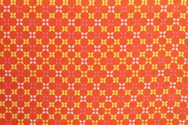 Bawełna pomarańczowa ze wzorem 6509/36