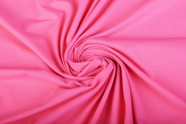 Dzianina bawełniana w kolorze różowym 05438/014