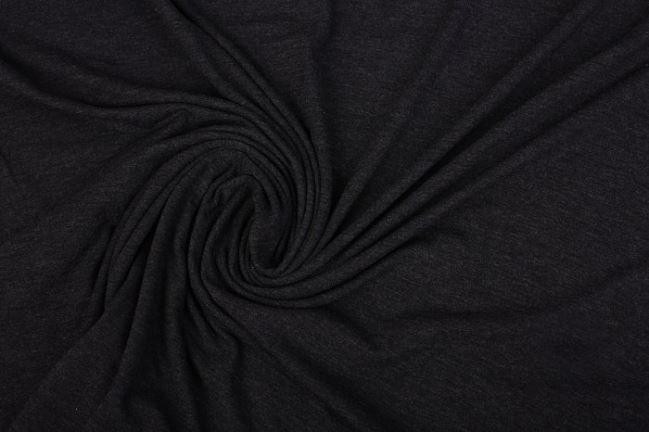 Dzianina elastyczna ciemno szary melanż 02195/269