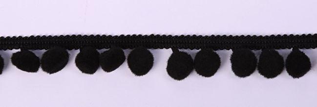 Borta z pomponami czarna K-PN0-29018-900