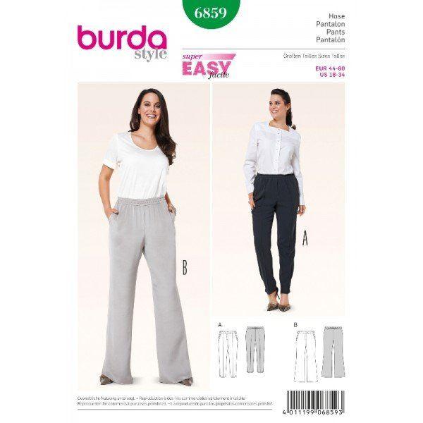 Wykrój na damskie spodnie  6859