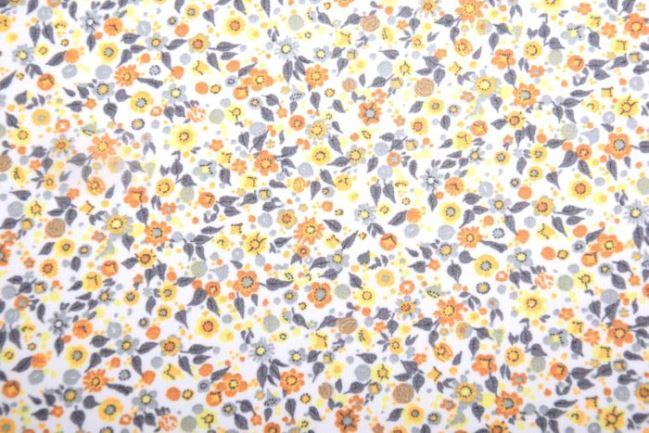 Tkanina bluzkowa z drobnym nadrukiem kwiatkow 132580