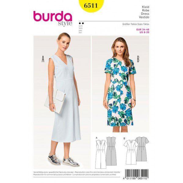Wykrój na sukienkę z zaznaczoną talią 6511