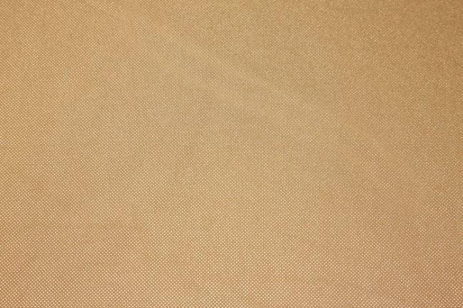 Zamsz elastyczny łososiowy w miedziane kropki 13595/820