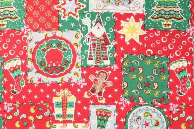 Tkanina bawełaniana ze świątecznym nadrukiem 05999/050