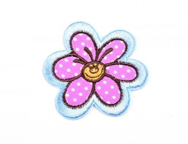 Aplikacja do naprasowania wesoły kwiatek NA012