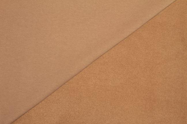 Dzianina dresowa drapana jasno brązowa 05650/053