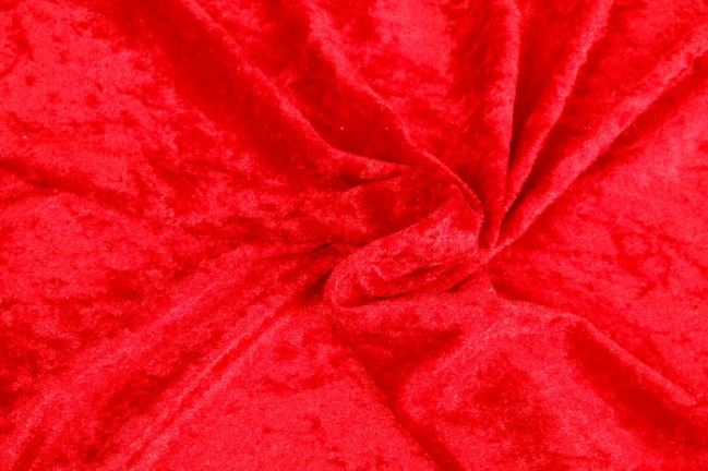 Welur de panne w kolorze czerwonym 0140/425