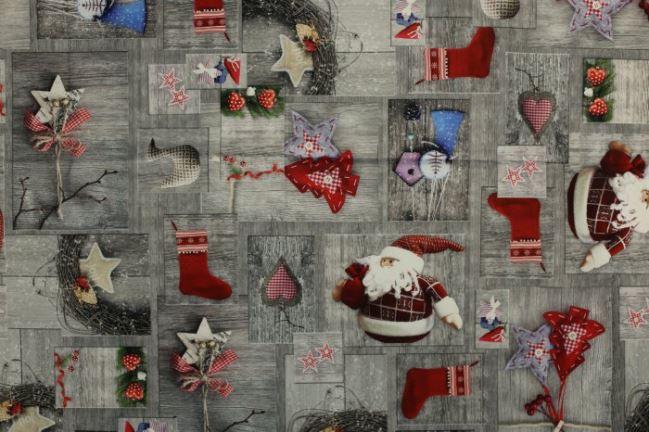 Tkanina dekoracyjna ze świątecznym nadrukiem cyfrowym 1088/015