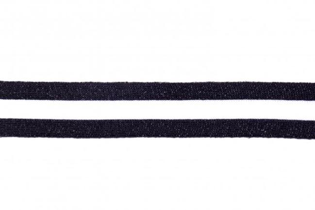 Lampas w czarno białe paski z metaliczną nitką 32429