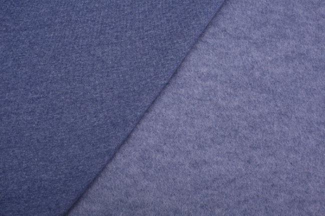 Dzianina dresowa drapana w niebieskim melanżu 08650/006