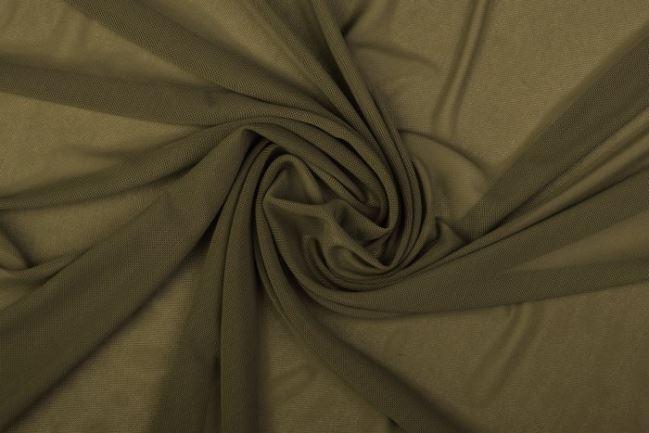 Elastyczny tiul w kolorze khaki 0695/215