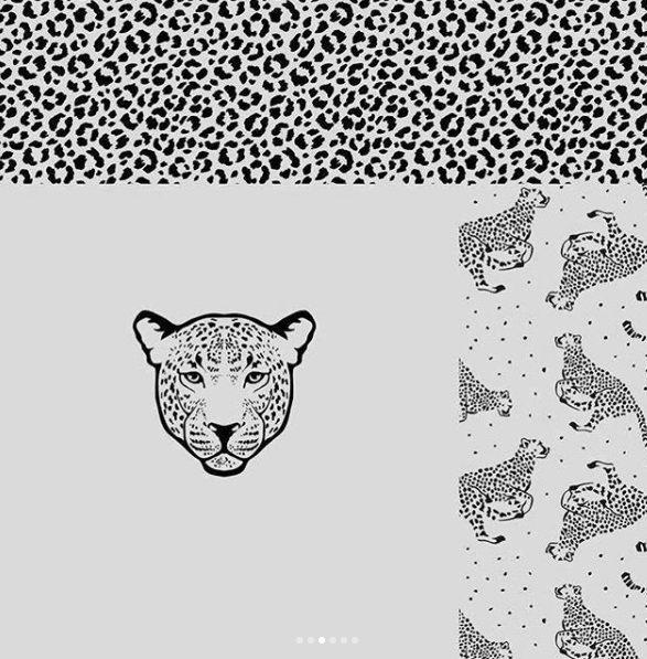 Panel tygrys tkany na dzianinie KC7401-021