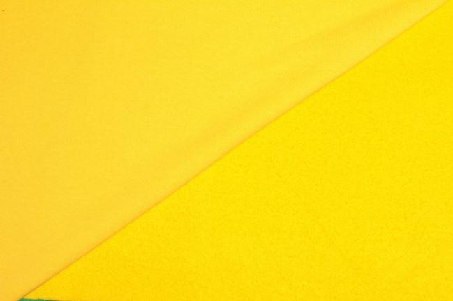 Dzianina dresowa drapana żółta 05650/035