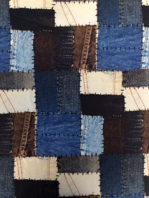 Tkanina dekoracyjna z nadrukiem dżinsu 1236/008