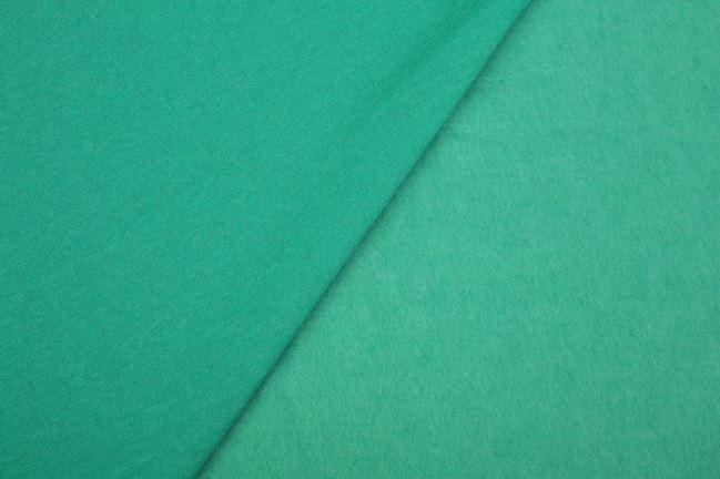 Dzianina dresowa drapana w kolorze turkusowego melanżu 08650/004
