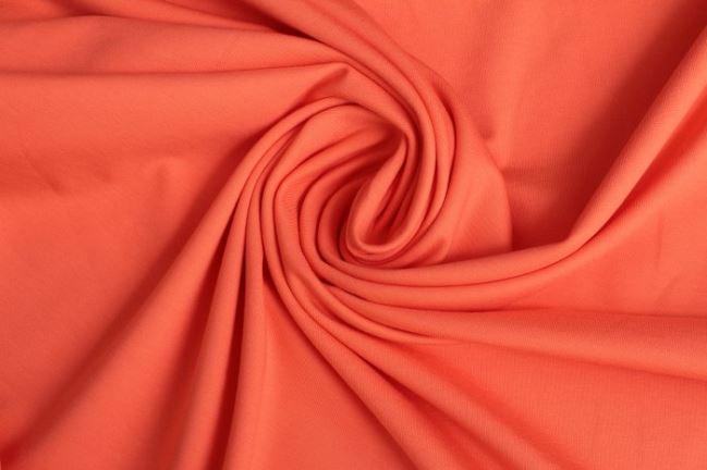 Dzianina bawełniana w kolorze łososiowym 05438/136