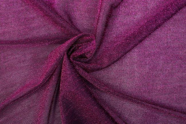 Przeźroczysta czarno-różowa dzianina 05587/017