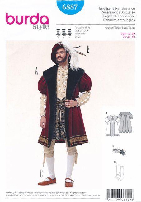 Wykrój na kostium angielskiego lorda  6887
