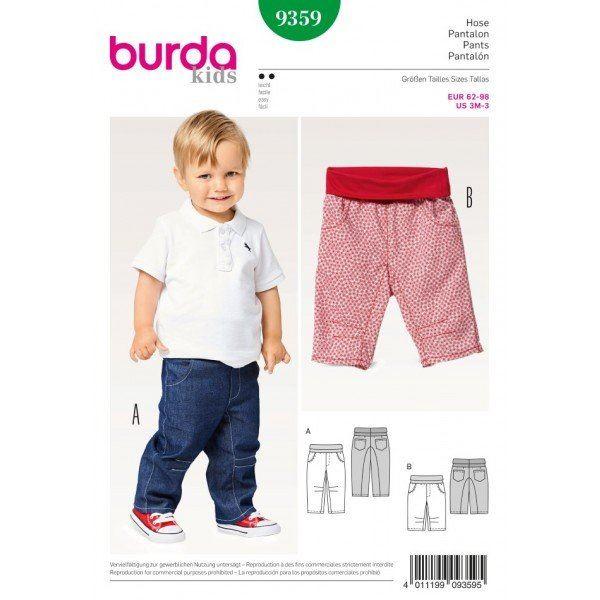 Wykrój na spodnie dziecięce 9359
