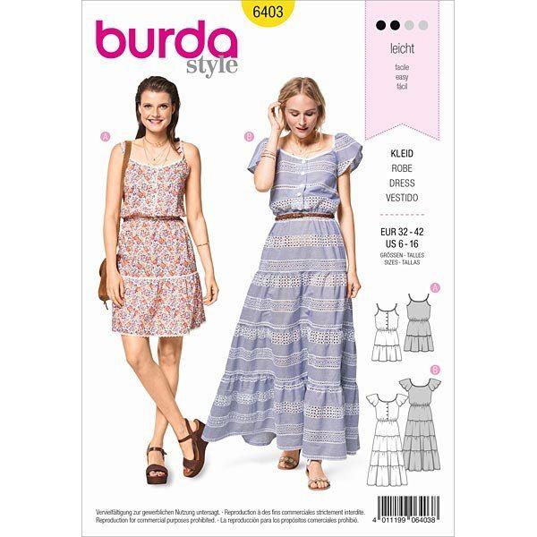 Wykrój na letnie sukienki 6403