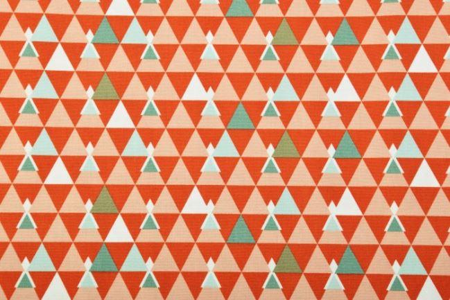 Tkanina bawełniana Tante Ema z geomertrycznym nadrukiem VI3
