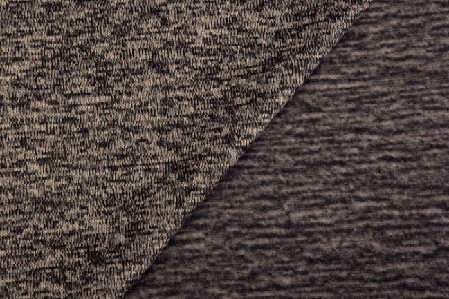 Dzianina swetrowa drapana beżowy melanż 03083/052