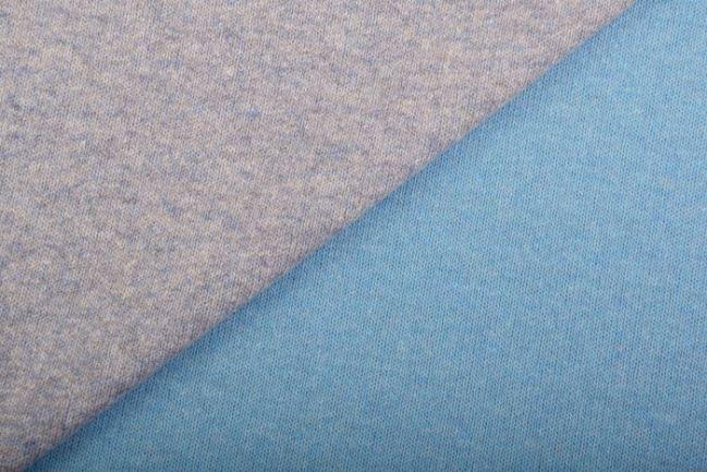 Dwustronna dzianina swetrowa szaro różowym PA78