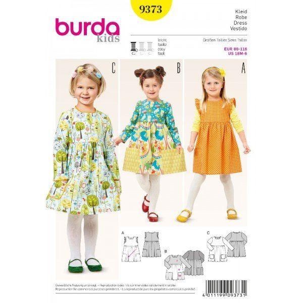 Wykrój na dziecięcą sukienkę  9373