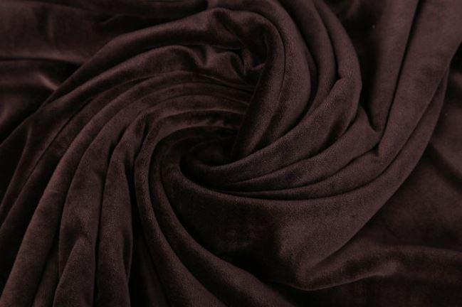 Aksamit w kolorze brązowym 03314/058