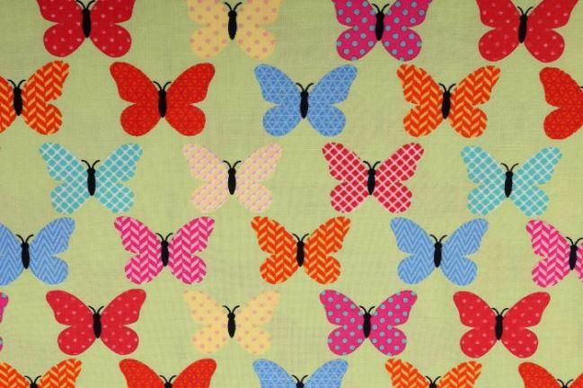 Tkanina bawełniana z nadrukiem motyli 124.900/3003