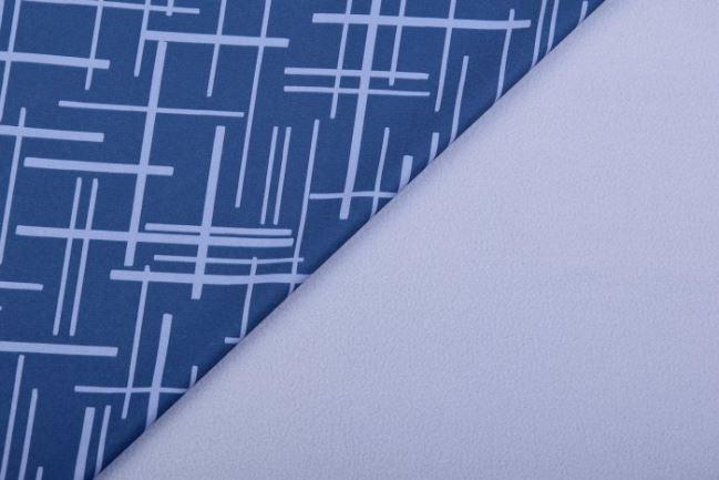 Softshell niebieski w jasne kreski KC8124-207