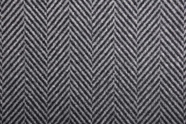 Tkanina płaszczowa szara ze wzorem geometrycznym 90625/001