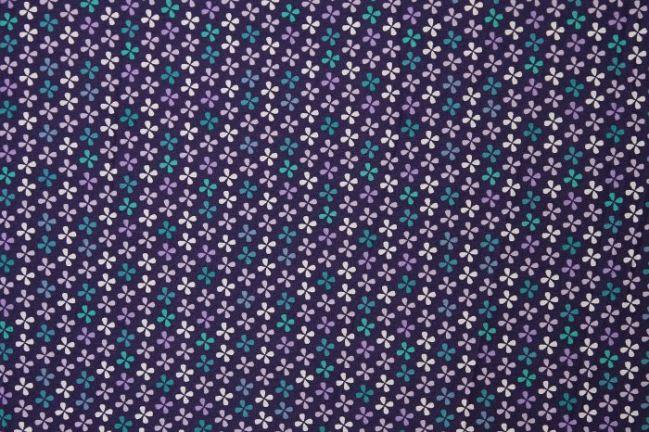 Bawełna fioletowa w koniczynki 6504/045